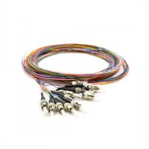 12 Fibers LC/SC/FC/ST/E2000 OS2 Singlemode ColorCoded Fiber Optic Pigtail, Unjacketed