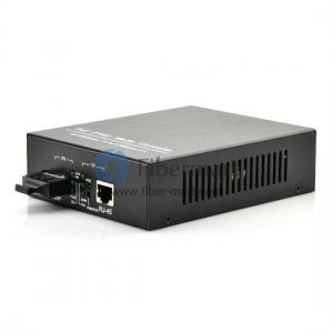 A Pair of 10/100/1000M Single Fiber 1490/1550nm 40KM Built-in power POE Media Converter