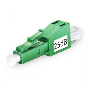 LC APC Singlemode Fixed Fiber Optic Attenuator 1~25dB