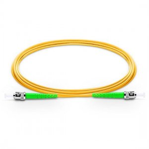 10M ST APC to ST APC Simplex 2.0mm PVC(OFNR) 9/125 Single Mode Fiber Patch Cable
