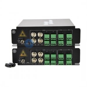 2 Channel Video & 1 Channel Reverse Data & 4 Channel Forward Audio to Fiber SM 20km Optical Video Multiplexer