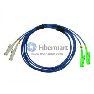 E2000/UPC to E2000/APC Duplex Singlemode 9/125 Armored Patch Cable