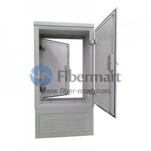 Max. 576 Fiber Fusion Splices 201SS Fiber Optic Cross Connection Cabinet with Double-sided Side Opening