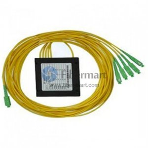 1x5 FBT Splitter Singlemode Dual Window Fiber Splitter with ABS Box