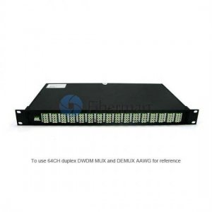 40 channels, Type B, 2RU Rack Mount, Simplex BIDI, Athermal AWG, DWDM Mux & Demux