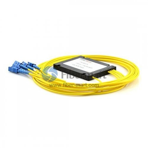 1x4, SC//APC PLC Splitter with Plastic ABS Box Package