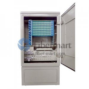 Max. 144 Fiber Fusion Splices 201SS Fiber Optic Cross Connection Floor Mount Cabinet for Outdoor & Indoor