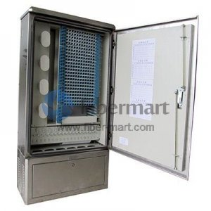 Max. 288 Fiber Fusion Splices 304SS Fiber Optic Cross Connection Cabinet for Outdoor & Indoor