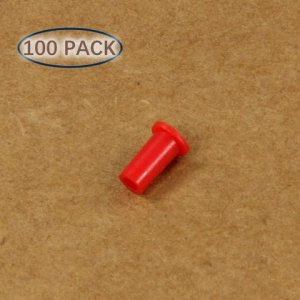 LC Plastic Universal Dust Cap For 1.25mm Ferrules 100 Pcs/Pack, Red