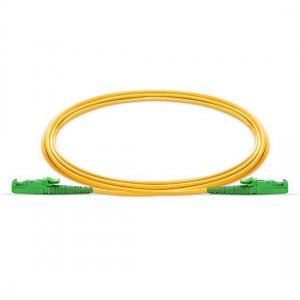 10M E2000 APC to E2000 APC Simplex 2.0mm PVC(OFNR) 9/125 Single Mode Fiber Patch Cable
