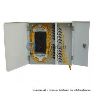 24 Ports Fiber Terminal Box As distribution box Indoor Wall Mountable for 24 Fibers