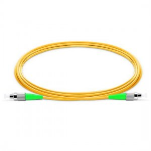 10M FC APC to FC APC Simplex 2.0mm PVC(OFNR) 9/125 Single Mode Fiber Patch Cable