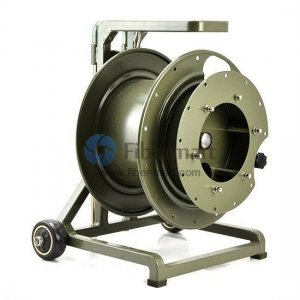 300 Meter Portable Field Deployable Tactical Fiber Optic Cable Reel