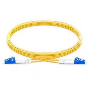 10M LC UPC to LC UPC Duplex 2.0mm OFNP 9/125 Single Mode Fiber Patch Cable