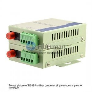 Industrial RS-485 to Single-mode Duplex Fiber Converter,1310nm 20km