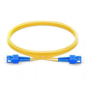 1M SC UPC to SC UPC Duplex 2.0mm OFNP 9/125 Single Mode Fiber Patch Cable