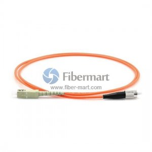FC-SC Simplex OM2 50/125 Multimode Fiber Patch Cable