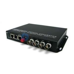 4 Channel Video & 8 Simplex Forward Audio to Fiber SM 20km Optic Video Multiplexer