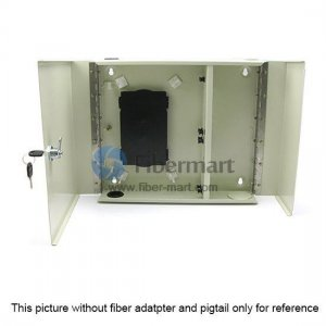 12 Fibers FM(05)D-24 LC Outdoor Wall Mountable Fiber Terminal Box as Distribution Box with Pigtails and Adapters