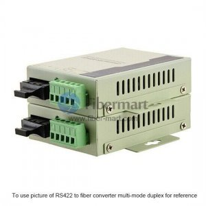 Industrial RS-422 to Single-mode Simplex Fiber Converter, 1310nm/1550nm 20km