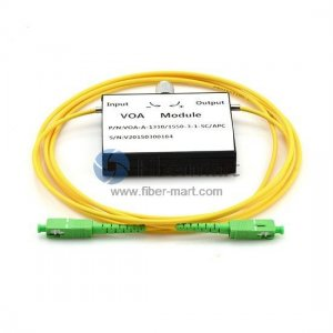 SC/APC to SC/APC Variable Fiber Optic VOA In-Line Attenuator 0-30dB