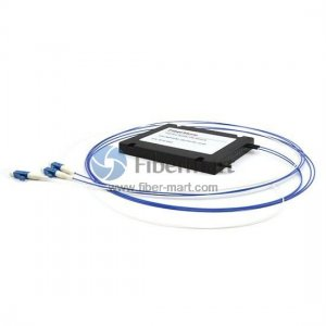 1x2 Fiber Polarization Maintaining(PM) PLC Splitter Slow Axis with Plastic ABS Box Package