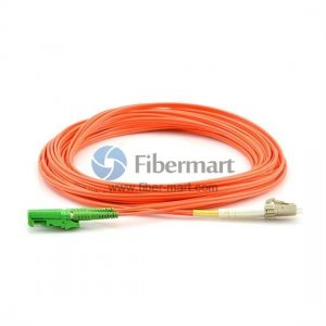 LC-E2000 Plenum(OFNP) Duplex 50/125 Multi-mode Fiber Patch Cable