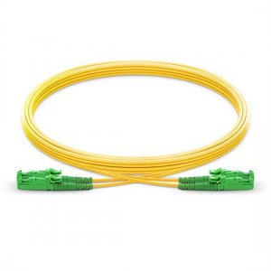 10 M E2000 APC para E2000 APC Duplex 2.0 mm PVC (OFNR) 9/125 Single Mode Fibra Patch Cable