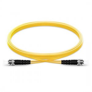 1M ST UPC to ST UPC Duplex 2.0mm LSZH 9/125 Single Mode Fiber Patch Cable