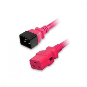 3m(10ft) 14AWG 250V/15A Power Cord (Locking C20 to C19), Red