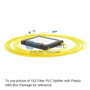 2x64 Fiber PLC Splitter with Plastic ABS Box Package
