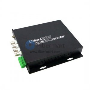 4 Channel Video & 4 Duplex Audio to Fiber SM 20km Optic Video Multiplexer