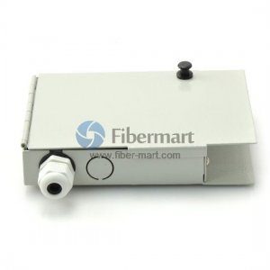 4 Fibers FTB-04 SC Wall Mounted Fiber Terminal Box as Distribution Box with Pigtails and Adapters