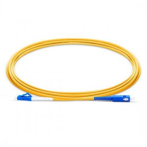 10M LC UPC to SC UPC Simplex 2.0mm PVC(OFNR) 9/125 Single Mode Fiber Patch Cable