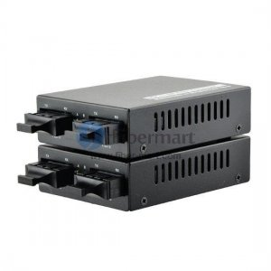 2km/60km 850nm/1310nm SFP 100M E SingleMode to Multimode Fiber Media Converter