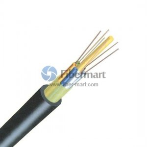 6 Fibers 62.5/125μm Multimode Single Jacket Non-Metal Member Waterproof Dielectric Loose Tube Outdoor Cable - GYFTY
