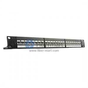24 Ports Cat6 Shielded Feed Through Patch Panel 1U