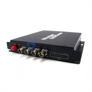 4 Channel Video & 2 Channel Forward Audio to Fiber SM 20km Optic Video Multiplexer