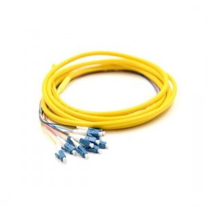 1.5M 12 Fibers LC/UPC 9/125 Singlemode Bunch Fiber Optic Pigtail 0.9mm PVC Jacket