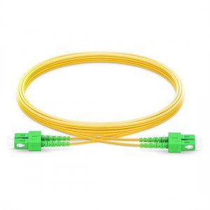 1M SC APC to SC APC Duplex 2.0mm OFNP 9/125 Single Mode Fiber Patch Cable