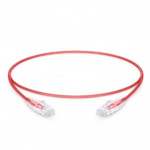 Slim Ethernet Network Patch Cable 1ft (0.3m) Cat6 Snagless Unshielded (UTP) PVC CM, Red