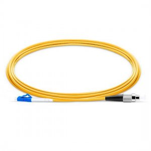 10M LC UPC to FC UPC Simplex 2.0mm PVC(OFNR) 9/125 Single Mode Fiber Patch Cable