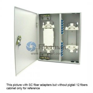 48 Fibers FM(05)A-24 FC Outdoor Wall Mountable Fiber Terminal Box as Distribution Box with Pigtails and Adapters