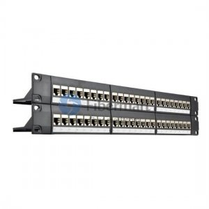 48 Ports Cat6 Shielded Feed Through Patch Panel 2U