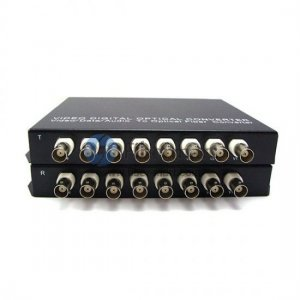 8 Channel Video & 8 channel Forward Audio to Fiber SM 20km Optic Video Multiplexer