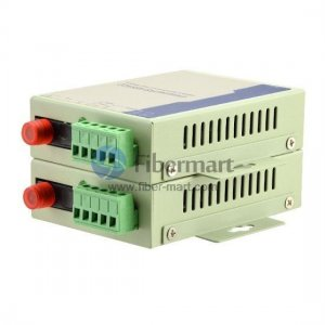 Industrial RS-485 to Single-mode Simplex Fiber Converter, 1310nm/1550nm 20km