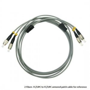 Custom E2000 UPC to E2000 UPC 6 Fibers OM1/OM2 Multimode Armored Breakout Cable 3.0mm Legs