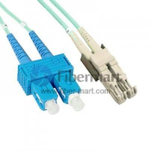 SC/UPC-E2000/UPC Duplex Multimode 100/140um 3.0mm Fiber Patch Cable
