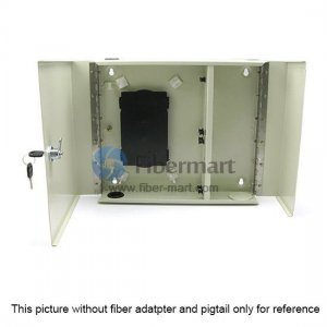 24 Fibers FM(05)D-24 LC Outdoor Wall Mountable Fiber Terminal Box as Distribution Box with Pigtails and Adapters