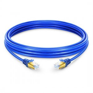 Cat7 Cable de conexión de red Ethernet blindado (SSTP), PVC azul, 5 m (16,40 ft)